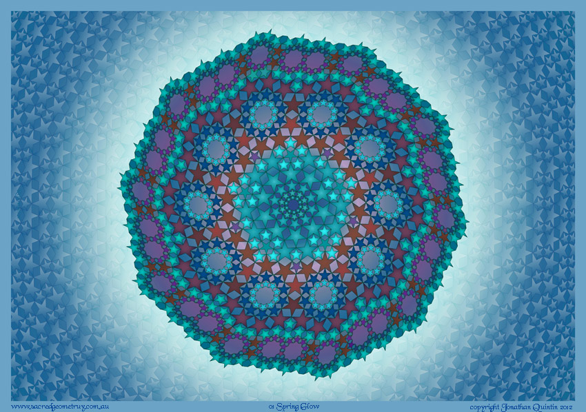 Sacred Geometry Star design ABB01SpringGlow