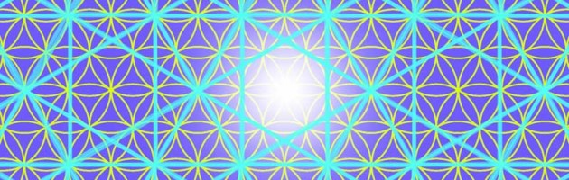Vector Matrix Honeycomb Flower of Life