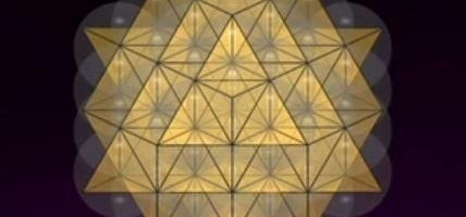 The way that the 64 tetrahedron grid overlays the 2D Flower of Life is not at all accidental
